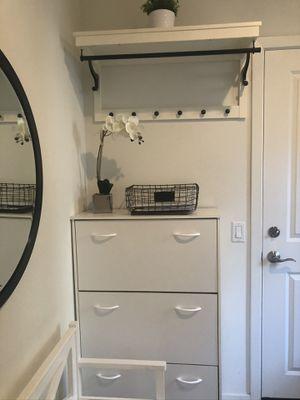 White Shoe Storage Cabinet for Sale in Irvine, CA