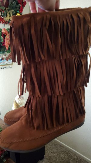 Womans Fringe boots for Sale in Fresno, CA