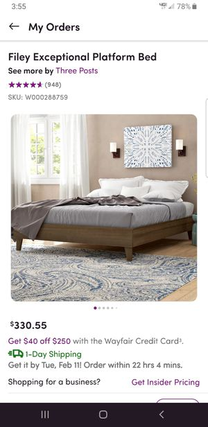 Queen Platform Bed Frame for Sale in Oxford, OH