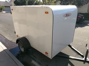 "Enclosed white Carson cargo trailer 5' x 8' x 5' with swing door. 15"" Wheels on Single 3500# axle. 2,990# GVWR. Rent $80/ daily rental. for Sale in Irvine, CA"