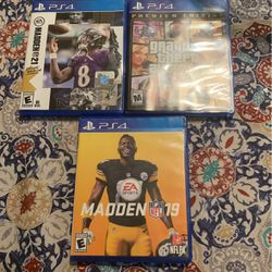 Madden 21 - Grand theft Auto - Madden 19 for Sale in Tucson,  AZ