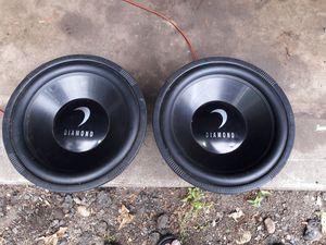 two large 15-inch diamond speakers for Sale in Alexandria, VA
