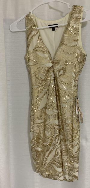 White and gold bodycon dress for Sale in Miami, FL