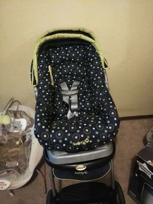 Car seat with base and stroller for Sale in Wichita, KS