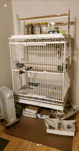Bird cage for medium to large bird, priced by itself, combined deal if bought with stand also for Sale in Fayetteville, AR