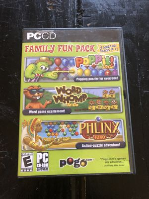 Family fun pack cd pc games for Sale in Lakeland, FL