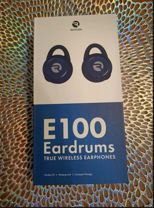 RAYCON E100 Eardrums - Water proof, Bluetooth Wireless Earbuds / Earphones / Headphones Blue for Sale in Garland, TX