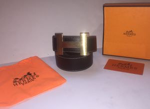 Hermes Black Gold Buckle Belt for Sale in Queens, NY