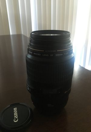 Canon Macro Lens EF 100mm for Sale in Tacoma, WA