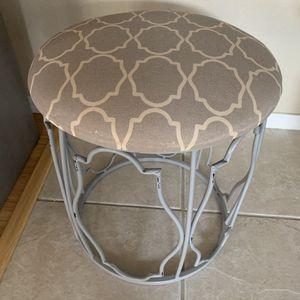 Grey stool / vanity chair for Sale in Gilbert, AZ