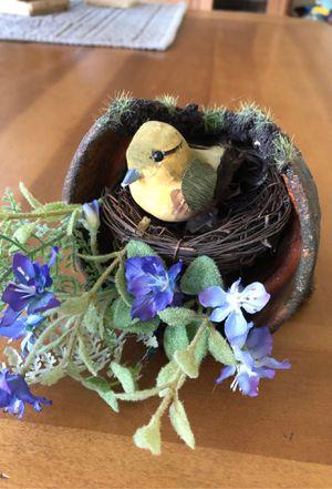 Cute decorative bird in flower pot. for Sale in Venetia, PA