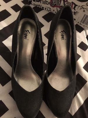 Black Sparkly Heels size 7.5 for Sale in Milwaukee, WI