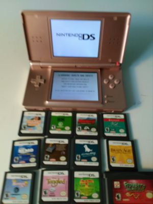 Nintendo DS Lite w/12 games, case, charger for Sale in Salt Lake City, UT