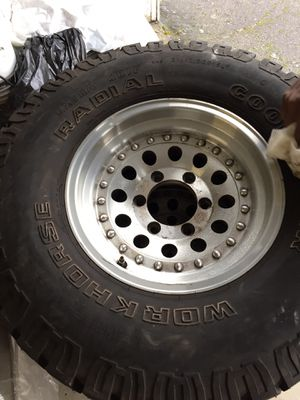 Good year workhorse (studded) snow tires for Sale in Tacoma, WA