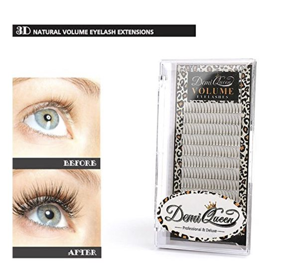 3D Premade Fans Russian Individual Volumes Lashes Rapid Handmade Cluster Eyelash Extensions Thickness 0.07mm D Curl