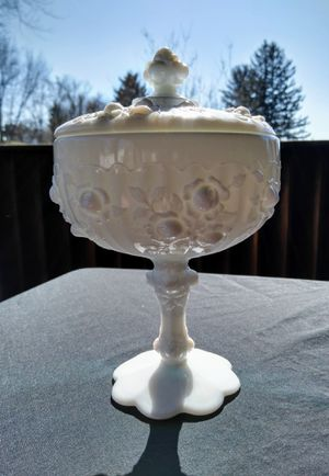 Fenton Cabbage Rose Lidded Compote for Sale in Monroeville, PA