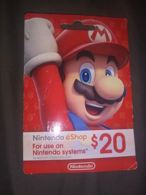 Nintendo eshop card for Sale in Salida, CA