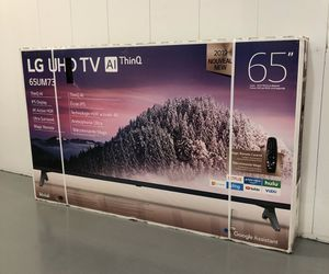 LG 65 INCH 4K HDR SMART TV w/THINQ! Delivery available, 6 month guarantee. BLACK FRIDAY SPECIAL! for Sale in Phoenix, AZ