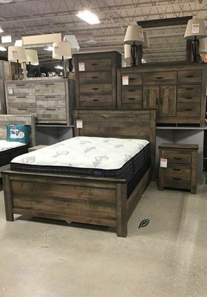 $39 DOWN❗BEST Deal 🛬 Trinell Brown Panel Bedroom Set | B446 233 for Sale in Jessup, MD