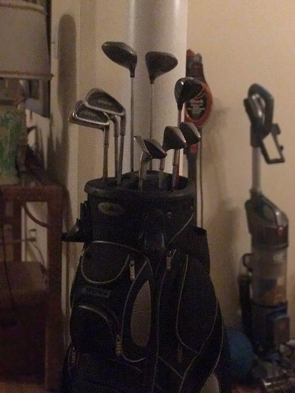 Golf clubs golf bag