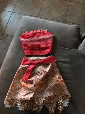 Moana Costume 4-6 for Sale in Apple Valley, CA