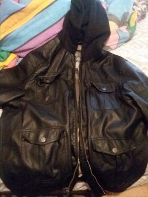 2xl leather hoodie jacket for Sale in Leander, TX