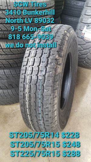4 New Trailer Tires ST225/75R15 Lionhart 10 ply for Sale in North Las Vegas, NV