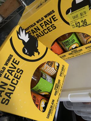 BBW Buffalo Wild Wings Sauce good flavors for Sale in Houston, TX