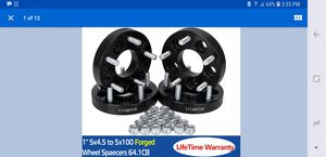 Wheel adapters 5x4.5 to 5x100 vw audi Subaru rims for Sale in Taylor Lake Village, TX
