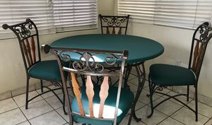 Iron wood 5-Piece Dining Room Table and Chairs for Sale in Tempe, AZ