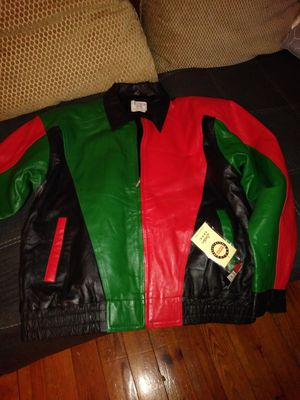 Extra large leather brand new Portugal coat for Sale in Philadelphia, PA