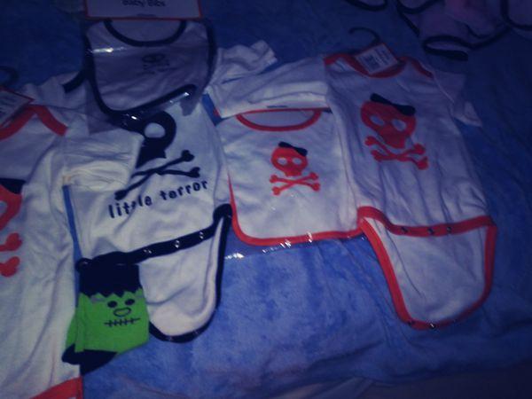 3 onese 3 bibs and. Pair of socks