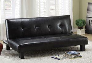 Brand New Black Leather Futon Sofa Sleeper for Sale in Fontana, CA