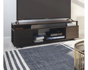 """NEW in Box, Mason TV Stand fits up to 65"""" (Dark Brown) for Sale in Houston, TX"""