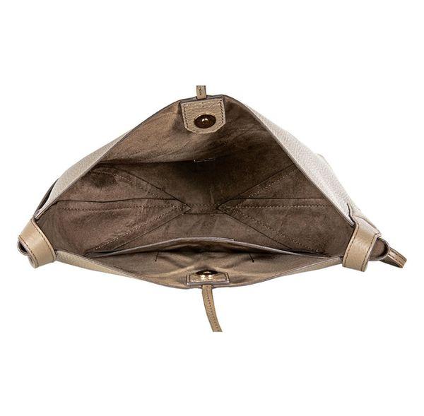 MICHAEL KORS Junie Large Pebbled Leather Messenger Bag - Mushroom