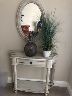 Console Table With Matching Mirror for Sale in Fort Lauderdale, FL