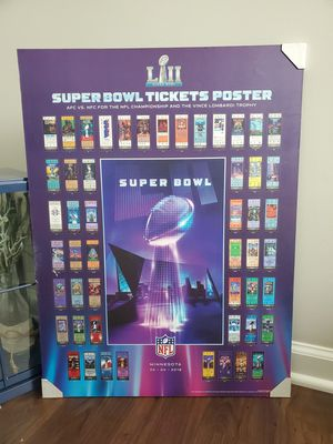 Superbowl non framed wood wall art for Sale in Raleigh, NC