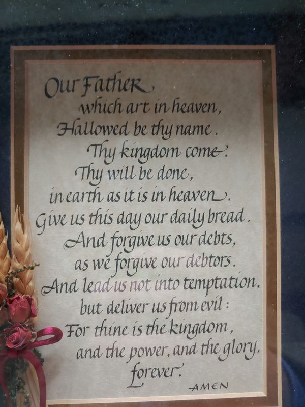 Lord's prayer picture