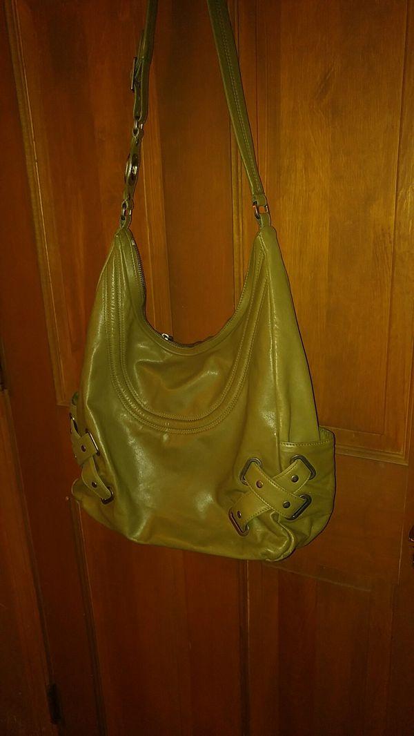 Hobo. Leather Bag. Zipper Closure. Color Olive. Used 1 Season.