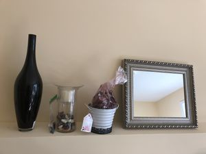 Mirror, decorative pots, candle holder-all $15 for Sale in Herndon, VA