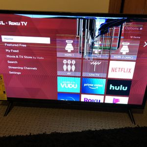Barley Used TCL Roku Tv , Broken Screen Can Be Fixed! for Sale in Randolph, MA