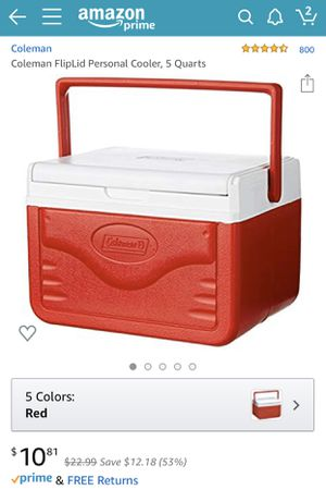 Coleman FlipLid Personal Cooler (red) for Sale in Lodi, CA