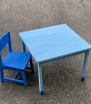 Ikea kids table and chair set for Sale in Golden, CO