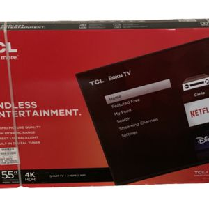 """55"""" TCL 4K HDR Roku TV for Sale in Arlington, TX"""