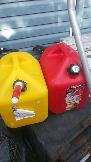 Diesel can left. The yellow one only $10.00 for Sale in Salem, OR