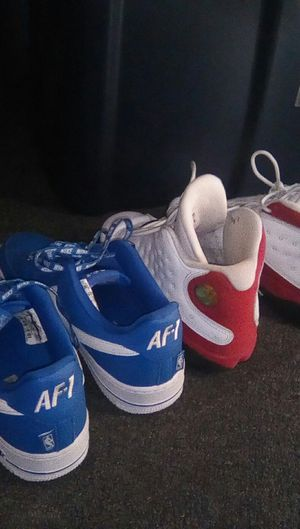 Blue airforce1s size 8 red and white Jordans 13 size 6.5 for Sale in East Saint Louis, IL