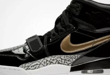 Nike Air Jordan Legacy 312 Shoes Black Gold Patent Leather AV3922-007 New in box for Sale in French Creek,  WV