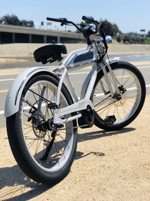 New custom electric bicycle eBike fat tire cruiser bike board track racer vintage Bafang w/ Samsung lithium battery Harley Indian for Sale in Garden Grove, CA
