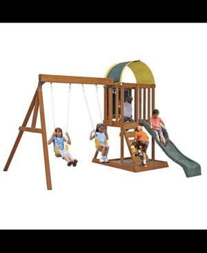 Wooden swing set for kids—outdoor games for Sale in Whittier, CA