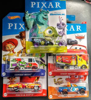 Hot Wheels Pixar set of 5 for Sale in Bellflower, CA